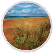 Colorful Beach Round Beach Towel