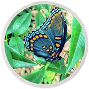 Colorful Butterfly Round Beach Towel