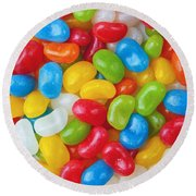 Colorful Candy Round Beach Towel