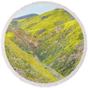 Round Beach Towel featuring the photograph Colorful Canyon by Marc Crumpler