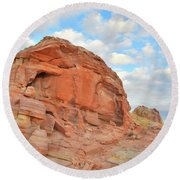 Colorful Castles At Valley Of Fire Round Beach Towel by Ray Mathis