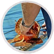 Colorful Catch Round Beach Towel