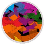 Colorful Chaos Too Round Beach Towel