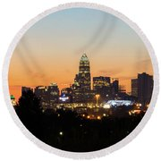Colorful Charlotte, North Carolina Round Beach Towel by Serge Skiba