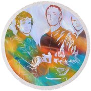 Colorful Coldplay Round Beach Towel by Dan Sproul