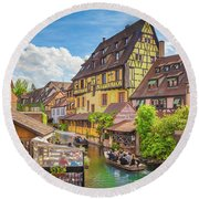 Colorful Colmar Round Beach Towel
