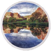 Colorful Colorado Round Beach Towel