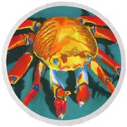 Colorful Crab II Round Beach Towel