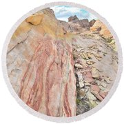 Colorful Crest In Valley Of Fire Round Beach Towel