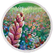 Colorful Day Round Beach Towel