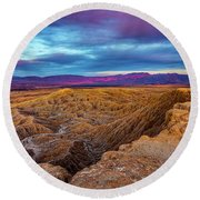 Colorful Desert Sunrise Round Beach Towel