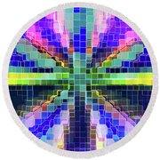 Colorful Digital Complex Round Beach Towel