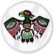 Colorful Eagle Symbol Round Beach Towel