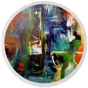 Colorful Escapism  Round Beach Towel by Lisa Kaiser