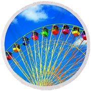 Colorful Ferris Wheel Round Beach Towel
