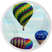 Colorful Four Round Beach Towel