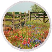 Colorful Gate Round Beach Towel