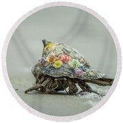 Colorful Hermit Crab Round Beach Towel