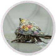 Colorful Hermit Crab Round Beach Towel