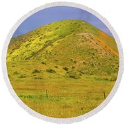 Round Beach Towel featuring the photograph Colorful Hill by Marc Crumpler