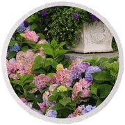 Colorful Hydrangea Round Beach Towel