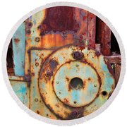 Colorful Industrial Plates Round Beach Towel