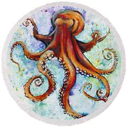 Colorful Ink Round Beach Towel
