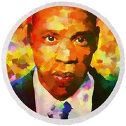 Colorful Jay Z Palette Knife Round Beach Towel by Dan Sproul