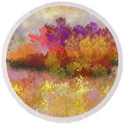 Colorful Landscape Round Beach Towel by Jessica Wright