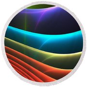 Colorful Layers Round Beach Towel