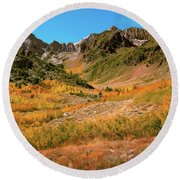 Colorful Mcgee Creek Valley Round Beach Towel