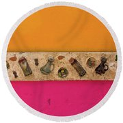Colorful Mexico  Mexican Art By Kaylyn Franks Round Beach Towel