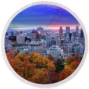 Round Beach Towel featuring the photograph Colorful Montreal  by Mircea Costina Photography