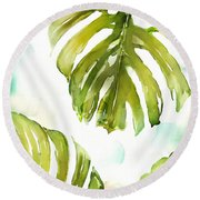 Colorful Palm Round Beach Towel
