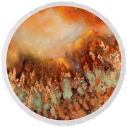 Colorful Plume Agate Round Beach Towel
