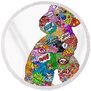 Poodle-icious Round Beach Towel