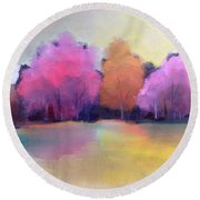 Colorful Reflection Round Beach Towel