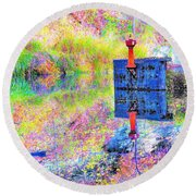 Colorful Reflections Round Beach Towel
