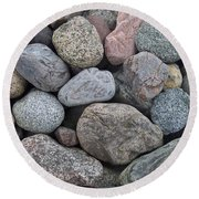 Round Beach Towel featuring the photograph Colorful Rocks by Richard Bryce and Family