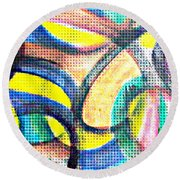 Colorful Soul Round Beach Towel