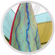 Colorful Surfboard Round Beach Towel