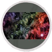 Colorful Swirls Round Beach Towel