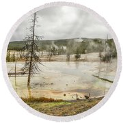 Colorful Thermal Pool Round Beach Towel