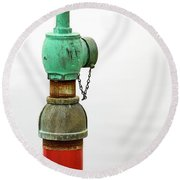 Colorful Valve Round Beach Towel