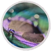 Colorful Water Droplet Round Beach Towel