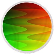 Round Beach Towel featuring the digital art Colorful Waves by Kathleen Sartoris