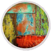Colorful Wood Round Beach Towel