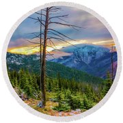 Colorfull Morning Round Beach Towel