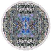 Colorized Aspen Kaleidoscope Round Beach Towel