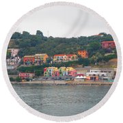 Colors Along The Coast Round Beach Towel